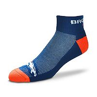Men's For Bare Feet Denver Broncos The Cuff Low-Cut Socks