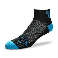 Men's For Bare Feet Carolina Panthers The Cuff Low-Cut Socks