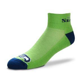 Men's For Bare Feet Seattle Seahawks The Cuff Low-Cut Socks