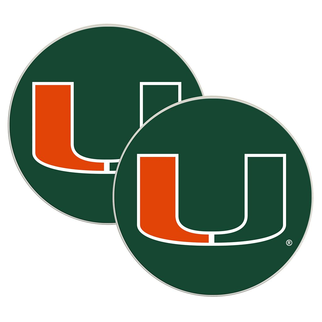 Miami Hurricanes 2-Pack Large Peel & Stick Decals