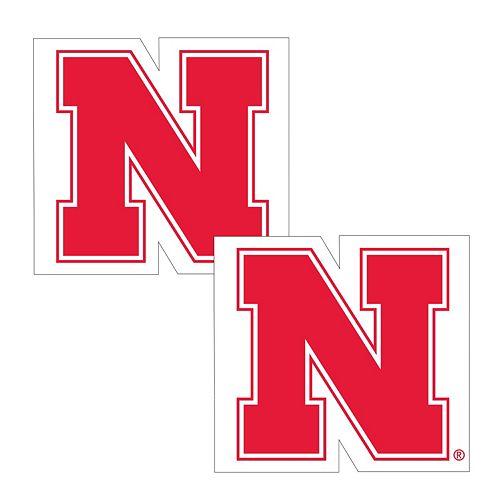 Nebraska Cornhuskers 2-Pack Large Peel & Stick Decals