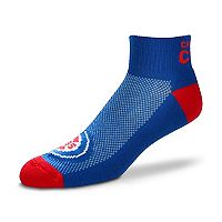 Men's For Bare Feet Chicago Cubs The Cuff Low-Cut Socks