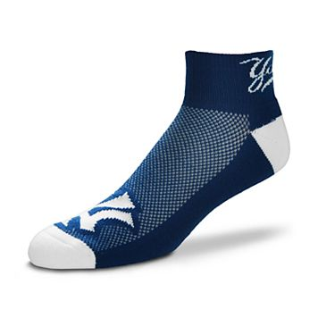 Men's For Bare Feet New York Yankees The Cuff Low-Cut Socks
