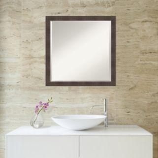 Amanti Art Rustic Square Wall Mirror