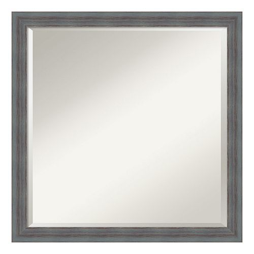 Amanti Art Rustic Square Wall Mirror