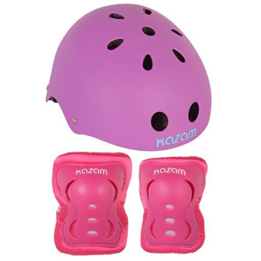 KaZAM Multi-Sport Helmet, Knee Pads & Elbow Pads Set