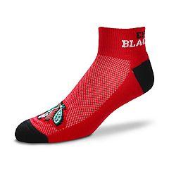 Men's For Bare Feet Chicago Blackhawks The Cuff Low-Cut Socks