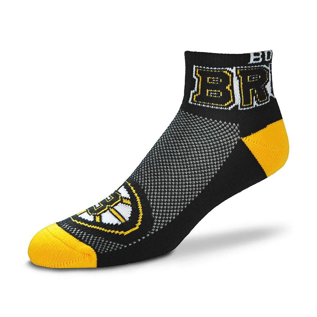 Men's For Bare Feet Boston Bruins The Cuff Low-Cut Socks