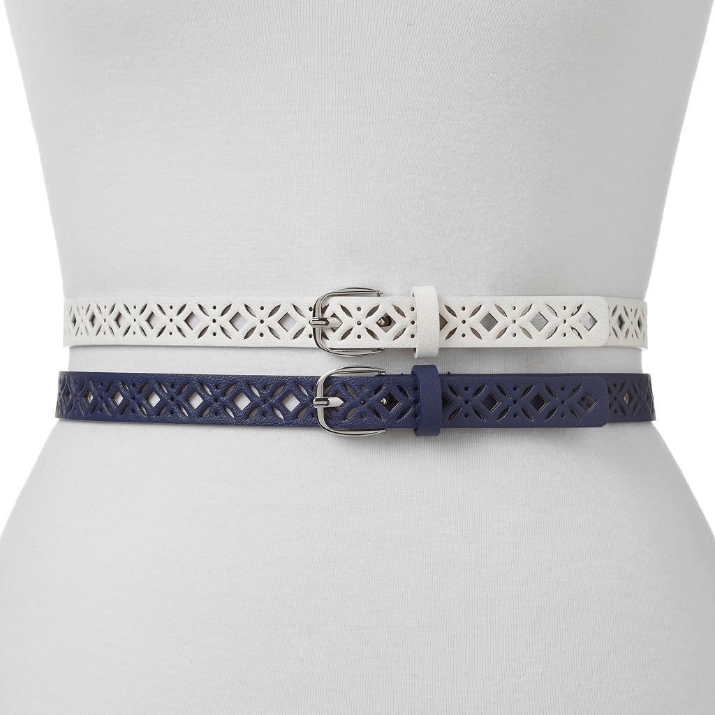 Women's Apt. 9® Perforated 2-for-1 Belt Set