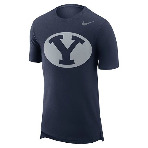 Men's Nike BYU Cougars Enzyme Droptail Tee