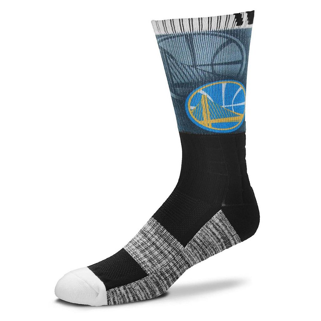 Adult For Bare Feet Golden State Warriors Blackout Socks