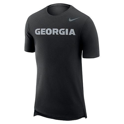 Men's Nike Georgia Bulldogs Enzyme Droptail Tee