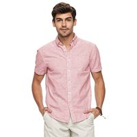 Big & Tall SONOMA Goods for Life™ Modern-Fit Solid End-On-End Button-Down Shirt