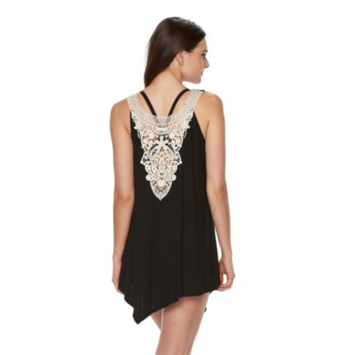 Women's Apt. 9 Sleeveless Crochet Trim Dress