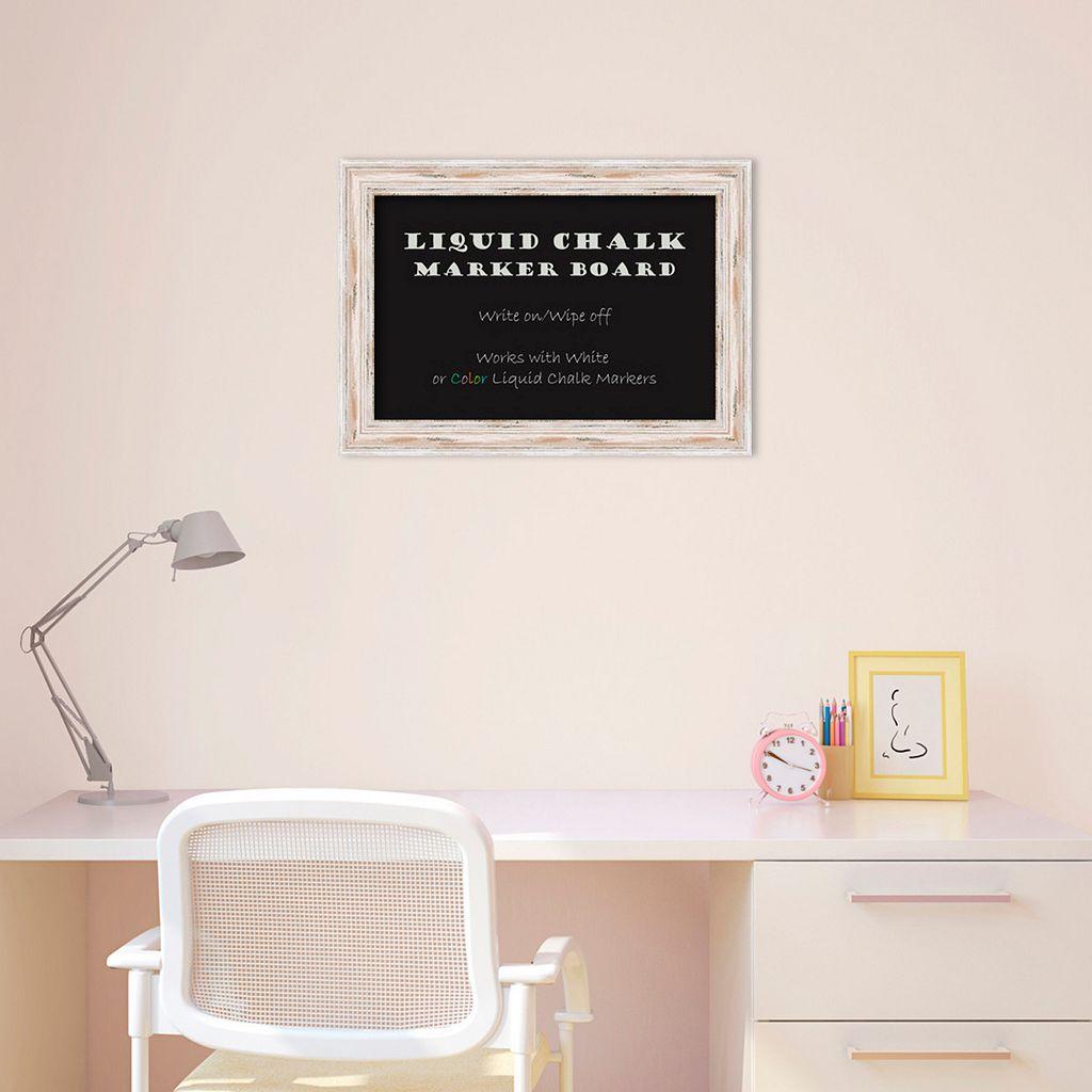 Amanti Art Washed White Liquid Chalk Marker Board Wall Decor