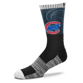Adult For Bare Feet Chicago Cubs Blackout Socks