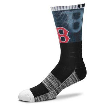 Adult For Bare Feet Boston Red Sox Blackout Socks