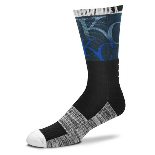Adult For Bare Feet Kansas City Royals Blackout Socks
