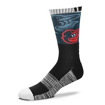 Men's For Bare Feet Baltimore Orioles Blackout Crew Socks
