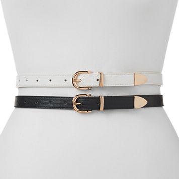Women's Apt. 9® Keeper 2-for-1 Belt Set