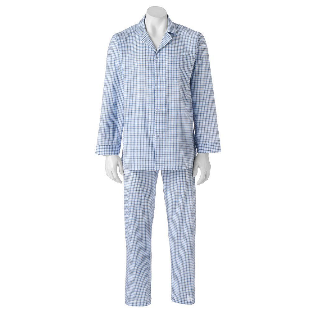 Men's Chaps Patterned Broadcloth Pajama Set