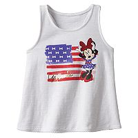 Disney's Minnie Mouse Toddler Girl Glitter American Flag Racerback Tank Top by Jumping Beans®