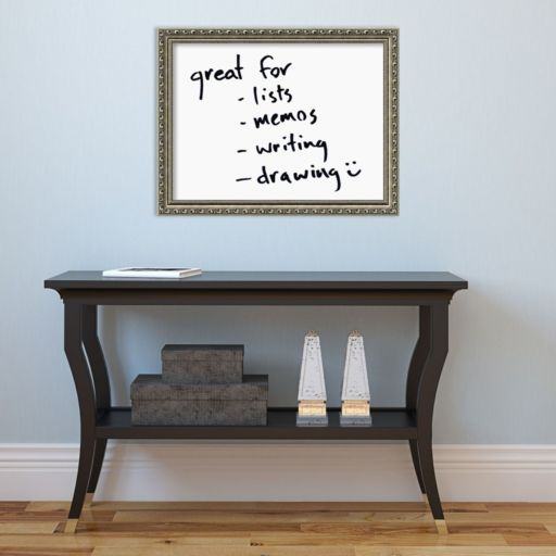 Amanti Art Silver Finish Framed Dry Erase Board Wall Decor