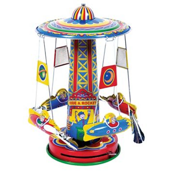 Schylling Rocket Ride Tin Carousel Collectible