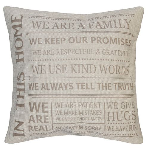 Spencer Home Decor ''In This Home'' Jacquard Throw Pillow