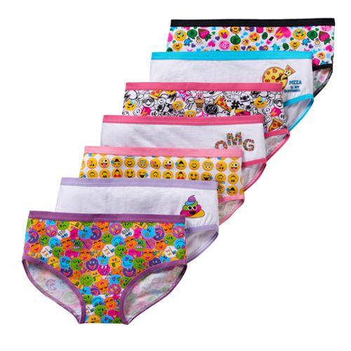 Girls 4-10 Emojination 7-pk. Hipster Panties
