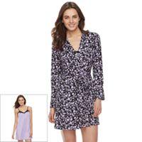Women's Apt. 9® Robe & Lace Chemise 2-Piece Set