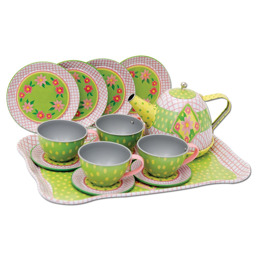 Schylling Floral Tin Tea Set