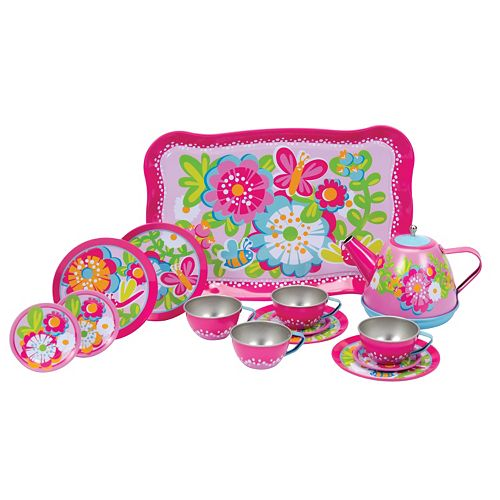 Schylling Garden Party Tin Tea Set