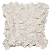 Spencer Home Decor Meadow Ruffle 3D Textured Throw Pillow