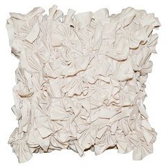 Spencer Home Decor Meadow Ruffle 3D Textured Throw Pillow