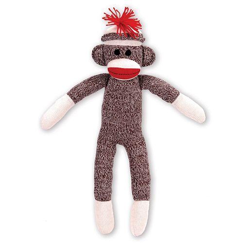Schylling Sock Monkey Stuffed Animal