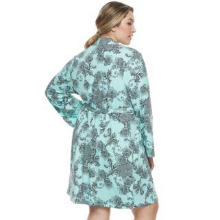 Plus Size Apt. 9® Robe & Lace Chemise 2-Piece Set