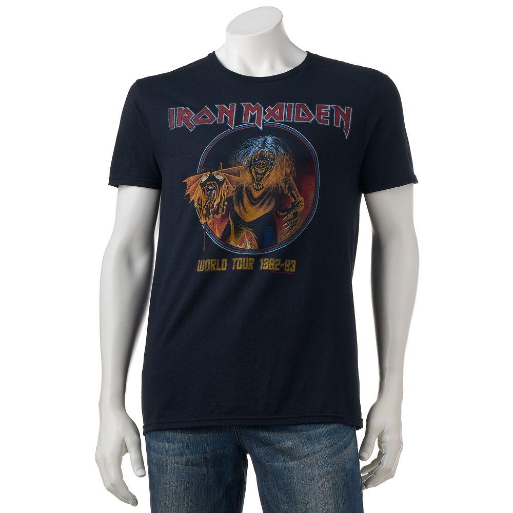 Black t shirts kohls - Men S Iron Maiden World Tour Tee
