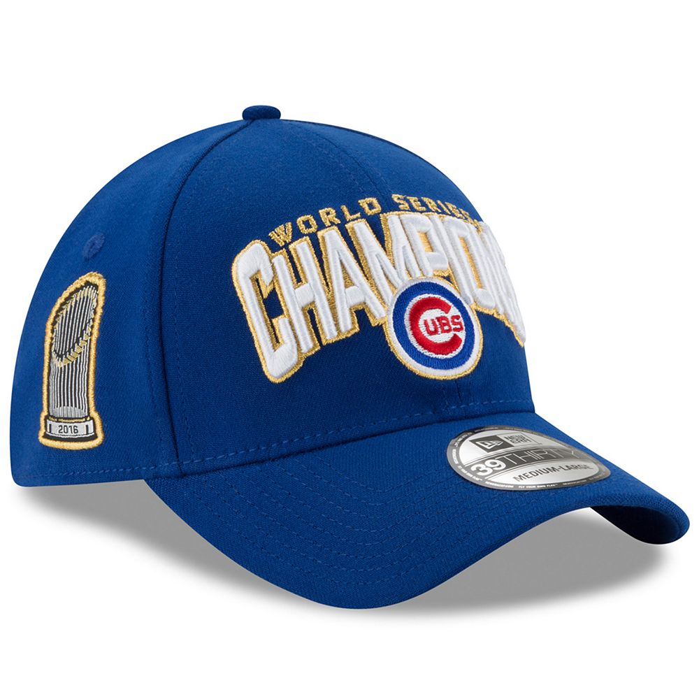 246d728b274 Adult New Era Chicago Cubs 2016 World Series Champions 39THIRTY Fitted Cap