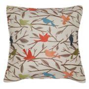 Spencer Home Decor Perched Bird Jacquard Throw Pillow
