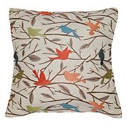 Spencer Home Decor Perched Bird Jacquard Throw Pillow