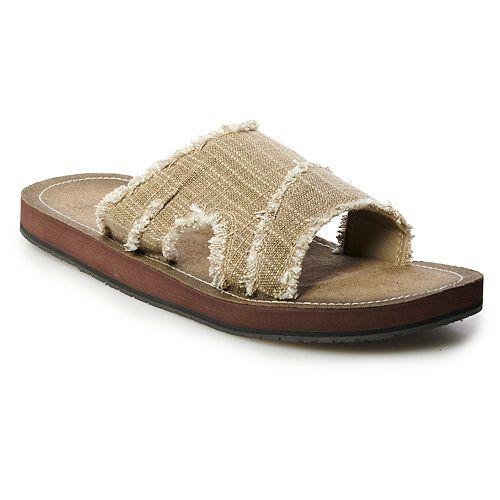 Men's Vintage Stone Frayed Flip-Flops