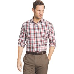 Big & Tall Van Heusen Plaid Stretch Button-Down Shirt