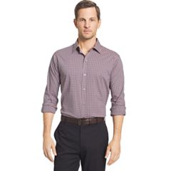 Big & Tall Van Heusen Slim-Fit Plaid Stretch Button-Down Shirt