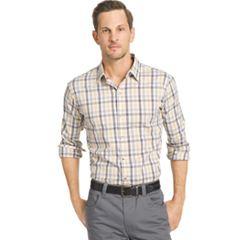 Big & Tall Van Heusen Slim-Fit Plaid Stretch Button-Down Shirt