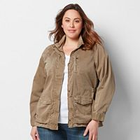 Plus Size SONOMA Goods for Life™ Solid Utility Jacket