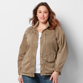 Plus Size SONOMA Goods for Life? Solid Utility Jacket