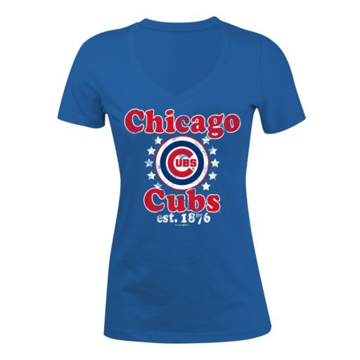 Women's 5th & Ocean Chicago Cubs Jersey Tee