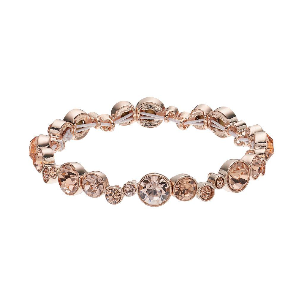 Napier Simulated Crystal Graduated Circle Stretch Bracelet