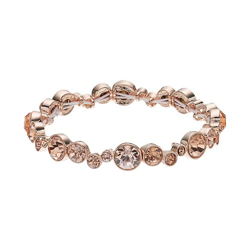 Napier Simulated Crystal Graduated Circle Stretch Bracelet